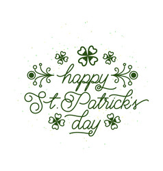 happy patricks day vector image vector image