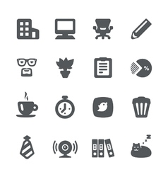 Home office icon set vector