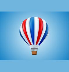 Hot air balloon in flight background vector