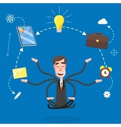 Human resources and self-development vector image