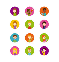 Icons set of people vector