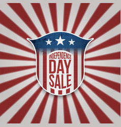 Independence day sale background vector