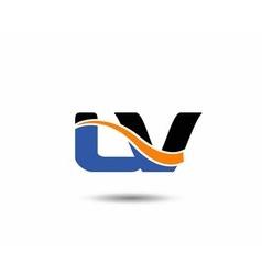 Lv company linked letter logo vector