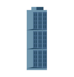Modern hotel building isolated icon vector