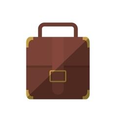 Portfolio suitcase strap travel business shadow vector
