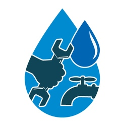 Repair plumbing and water supply systems vector image vector image