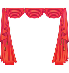 Scarlet curtains vector