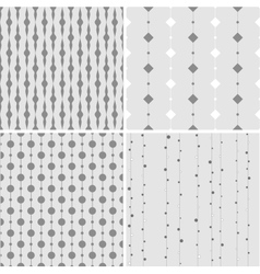 Seamless pattern with squares and circles on lines vector image vector image