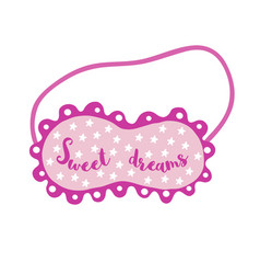 Sleeping eye mask vector
