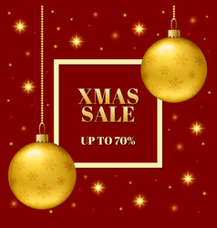 template of the christmas sale of the banner vector image vector image