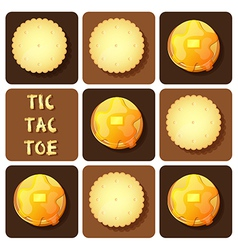 Tic-tac-toe of cracker and pancake vector