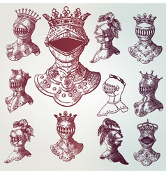 vintage armour vector image vector image