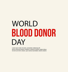 World blood donor day design banner vector