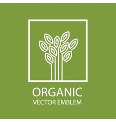 Organic farming logo design idea vector