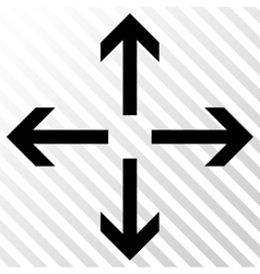 Expand arrows icon vector