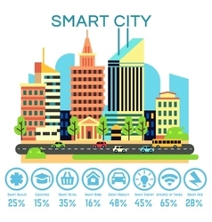Smart city concept with business technology vector