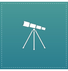 Telescope flat icon vector