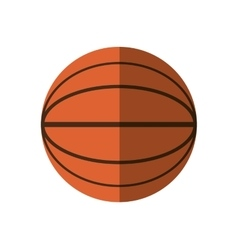 basketball ball sport school shadow vector image