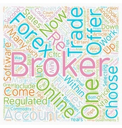 How to choose a great forex broker text background vector