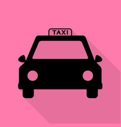 Taxi sign  black icon with flat style vector