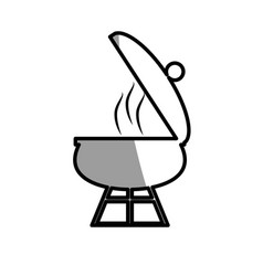 Grill cooking food roasted picnic shadow vector