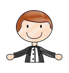 Cute husband avatar character vector