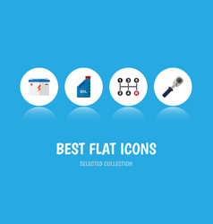 Flat icon workshop set of petrol carrying vector