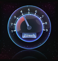 speedometer interface background vector image