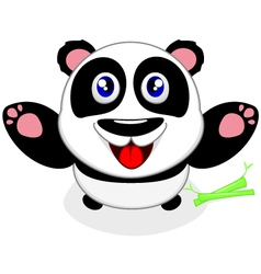 Baby panda laughing vector