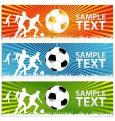 Soccer ball or football banners vector