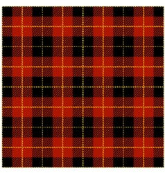 Red tartan plaid design vector