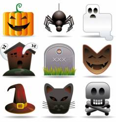 Halloween utilities vector