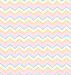 Chevron baby colors vector image