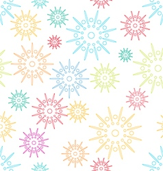 Colorful abstract seamless pattern with flowers st vector