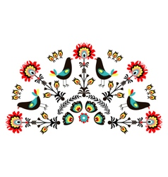 Pattern with birds-a vector