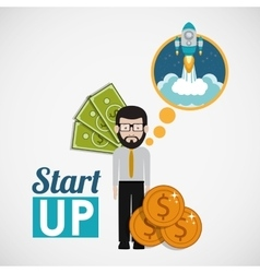 Financial start up design vector