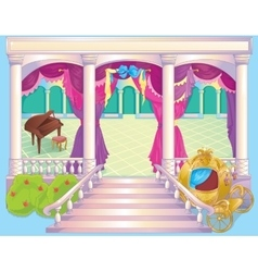Fairytale luxury princess dinner room vector