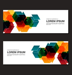 Abstract business banner background vector