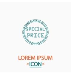 Special price computer symbol vector