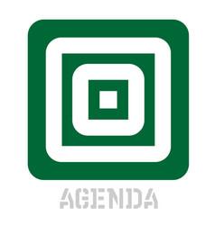 Agenda conceptual graphic icon vector