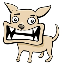 Angry puppy cartoon vector