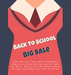 Back to school sale poster with text vector