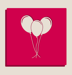 Balloons set sign grayscale version of vector