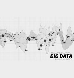 big data grayscale visualization vector image