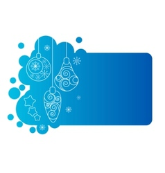blue christmas frame with decorations vector image vector image