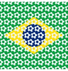 Brazil soccer background vector