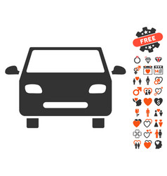 Car icon with dating bonus vector