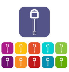 Car key icons set vector