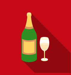 champagne icon in flat style isolated on white vector image