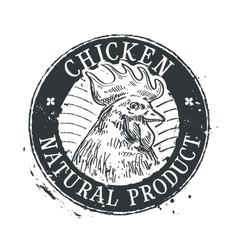 chicken logo design template rooster or vector image vector image